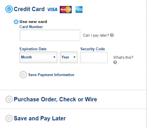ePromos Checkout Process - Credit Card