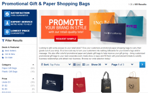 ePromos Shopping Bags Page