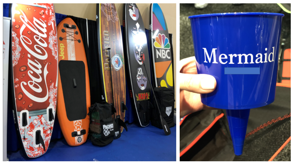 Go big with custom surfboards or budget friendly with beach cup holders