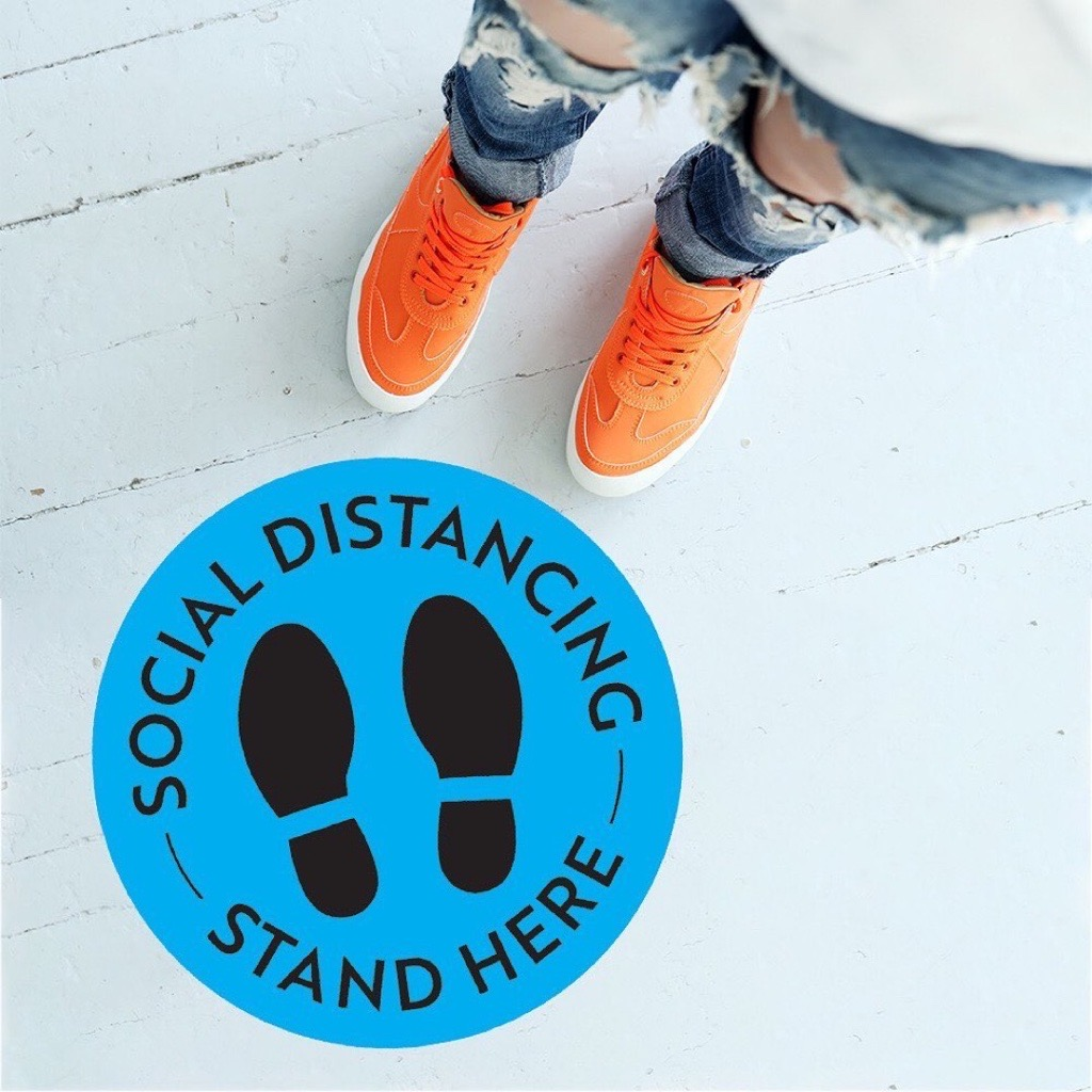 Social Distance Floor Decals